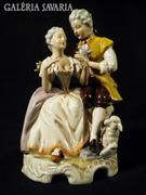 S788 Régi német nagyméretű barokk főúri porcelán