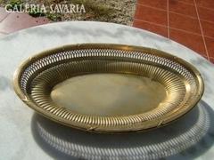 Jelzett ARGENTOR antik aranyozott ezüst kínáló A múlt s