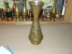 Sárgaréz füles váza 35 cm