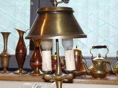 Sárgaréz ernyős asztali lámpa 38 cm