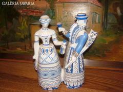 Különleges – kézzel festett Hollóházi mulató pár