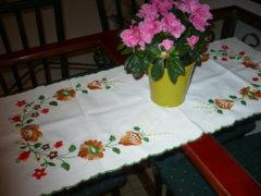 Téglalap alaku asztali futó