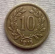 1915 -ös 10 Heller nagyon szép!