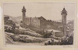 Zádor István korai rézkarca Hebron  (judaika )