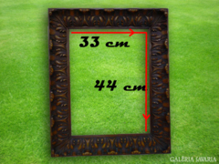 1020 R1 Antik dúsan faragott képkeret 33,5 x 44,5