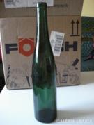 Régi sötét zöld  üveg palack