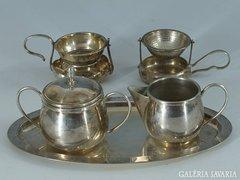 Gyönyörű angol ezüstözött szecessziós teás készlet