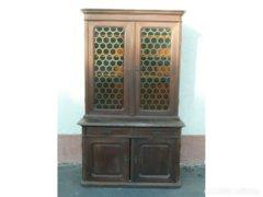 0273 Antik bécsi barokk tálaló szekrény