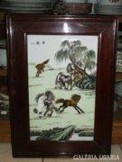 Kínai porcelán falikép