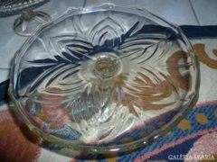 Antik üveg tortatartó