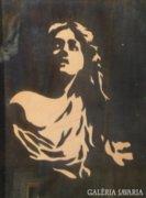 3568 Intarziakép fiatal nő inverz