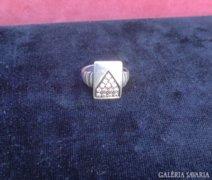 Pave foglalatos cirkónia köves ezüst gyűrű