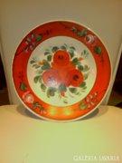 Hollóházi rózsás tányér