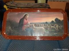 Régi szentkép korabeli keretében - 135 x 66,5 cm