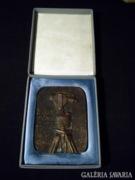 R668 R5 Régi jelzett bronz plakett