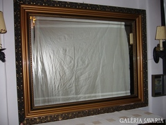 Eszkluziv óriási csiszolt tükör 23 cm vastag kerettel