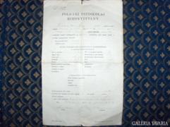 POLGÁRI FIÚISKOLAI BIZONYÍTVÁNY - 1932