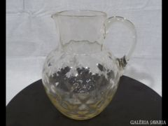 1599 E2 Antik huta üvegkancsó 19. századból
