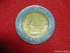 500 Líra, Olaszország, 1990.