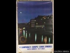 2459 T2 EREDETI olasz evezős sport reklám plakát