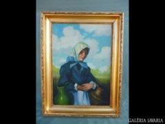 Y961 R1 Parobek Alajos Fiatal lány korsóval 1930