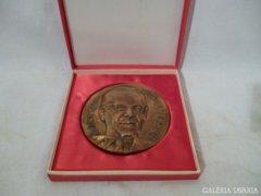 1178 G4 Nagyméretű bronzplakett Bognár Rezső