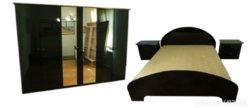 C608 R7 Lakk fekete hálószoba garnitúra 4 db