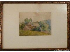 4202 T43 Ismeretlen akvarell tájkép