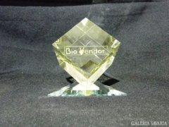 0638 Üveg reklám levélnehezék Bio Vendor