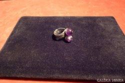 Ametiszt köves ezüst gyűrű