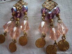 Bizsu fülbevaló gyöngyökkel