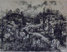 """Bordás Ferenc : """"Kertváros"""" 1973"""