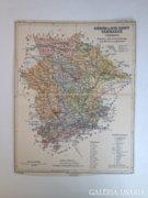 Régi Gömör és Kis-Hont Vármegye térképe