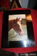 Vedres Károly lovas festmények párban