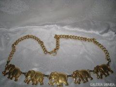 Réz elefánt nyaklánc & deréklánc