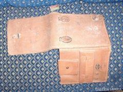 Antik katonai bőrtáska