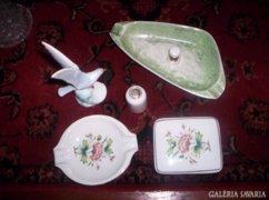 6 db Hollóházi porcelán