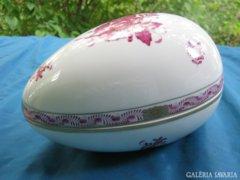 ÓRIÁSI herendi porcelán Apponyi tojás doboz / bonbonier