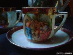 1918 kézi festett Cseh porcelán készlet