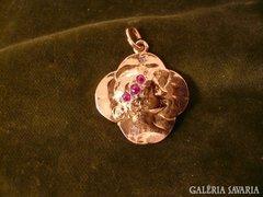 Antik arany szecessziós medál