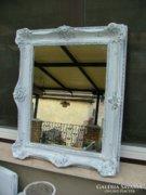 Provence fehérre antikolt tükör 30.