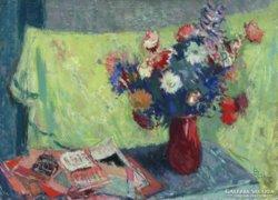 Blahos Rudolf : Virágok vázában