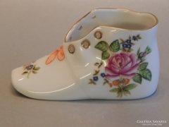 Herendi cipő rózsa mintával