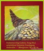 Feng Shui -Bőségszaru-Gazdagság szimbólum festmény