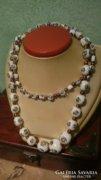 Gyönyörű festett muránói üveg nyaklánc