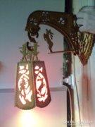 Gyönyörű,lámpa, faragott kézimunkás