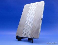 0B353 Nagyméretű ezüst cigaretta tárca