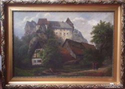 Wilhelm Schröter (1849-1904): Romantikus tájkép