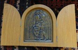 Szabolcs Péter szobrászművész szárnyasoltár