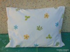 Kék-zöld virágos párnahuzat - 2 db